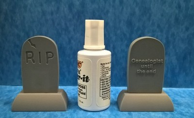Headstone flash drive - front and back view